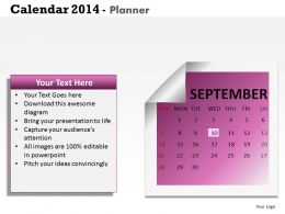 Make 2014 Calendar The Best Business Year Template and Powerpoint Slide for Planning