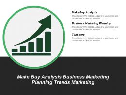 Make Buy Analysis Business Marketing Planning Trends Marketing