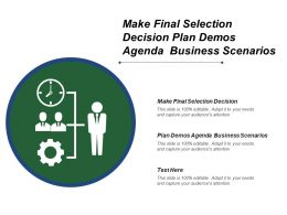 Make Final Selection Decision Plan Demos Agenda Business Scenarios