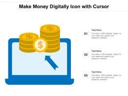 Make Money Digitally Icon With Cursor