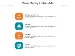 Make Money Online Ads Ppt Powerpoint Presentation Professional Examples Cpb
