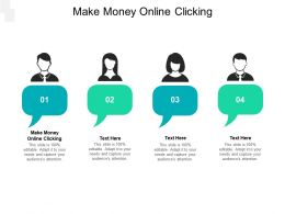 Make Money Online Clicking Ppt Powerpoint Presentation Infographic Template Clipart Cpb