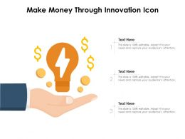 Make Money Through Innovation Icon