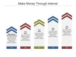 Make Money Through Internet Ppt Powerpoint Presentation Professional Vector Cpb