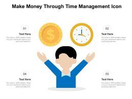 Make Money Through Time Management Icon