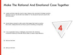Make The Rational And Emotional Case Together Ppt Powerpoint Presentation Professional Show