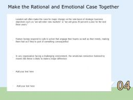 Make The Rational And Emotional Case Together Respond Ppt Powerpoint Presentation Professional Smartart