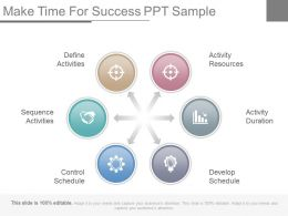 Make Time For Success Ppt Sample