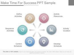 Make Time For Success Ppt Sample