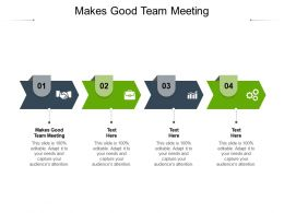Makes Good Team Meeting Ppt Powerpoint Presentation Model Inspiration Cpb