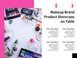 Makeup Brand Product Showcase On Table