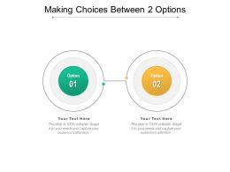 Making Choices Between 2 Options