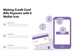 Making Credit Card Bills Payment With E Wallet Icon