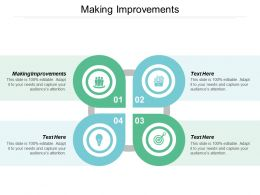 Making Improvements Ppt Powerpoint Presentation Gallery Outfit Cpb