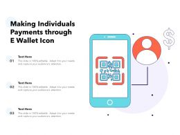 Making Individuals Payments Through E Wallet Icon