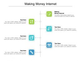 Making Money Internet Ppt Powerpoint Presentation Styles Outline Cpb