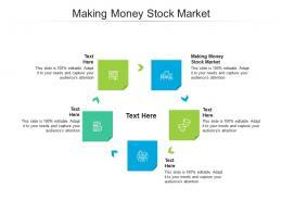 Making Money Stock Market Ppt Powerpoint Presentation Model Grid Cpb