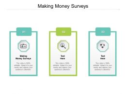 Making Money Surveys Ppt Powerpoint Presentation Infographics Guidelines Cpb