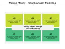 Making Money Through Affiliate Marketing Ppt Powerpoint Presentation Infographic Template Cpb