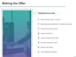 Making The Offer Quote Structured Annual Salary Ppt Powerpoint Presentation Templates