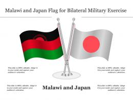 Malawi And Japan Flag For Bilateral Military Exercise