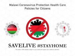 Malawi Coronavirus Protection Health Care Policies For Citizens