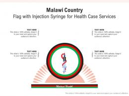 Malawi Country Flag With Injection Syringe For Health Case Services