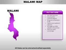 Malawi Country Powerpoint Maps