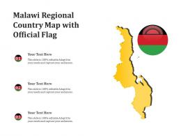 Malawi Regional Country Map With Official Flag
