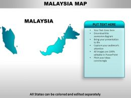 Malaysia Country Powerpoint Maps