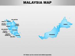 Malaysia Powerpoint Maps