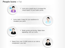 male_and_female_customer_care_talking_and_executives_ppt_icons_graphics_Slide01