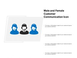 Male And Female Customer Communication Icon