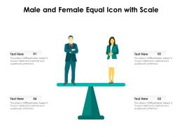 Male And Female Equal Icon With Scale