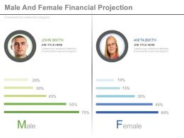 Male And Female Financial Projection Diagram Powerpoint Slides