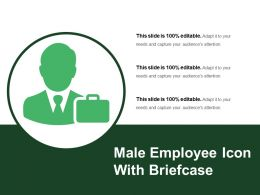 Male Employee Icon With Briefcase