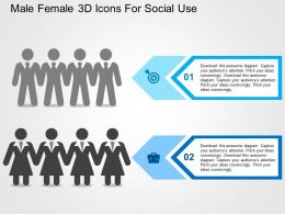 Male Female 3d Icons For Social Use Flat Powerpoint Design