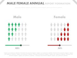 Male Female Business Annual Report Formation Powerpoint Slides