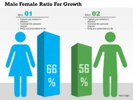 male_female_ratio_for_growth_flat_powerpoint_design_Slide01