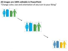 Male Female Ratio For Growth Flat Powerpoint Design