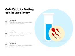 Male Fertility Testing Icon In Laboratory
