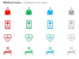 Male Patient M Health Cardiogram Medical Supervision And Treatment Ppt Icons Graphics