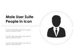 Male User Suite People In Icon