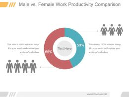 Male Vs Female Work Productivity Comparison Ppt Infographics