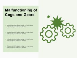 Malfunctioning Of Cogs And Gears