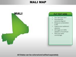 Mali Country Powerpoint Maps