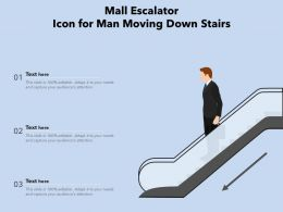 Mall Escalator Icon For Man Moving Down Stairs