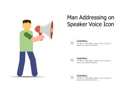 Man Addressing On Speaker Voice Icon