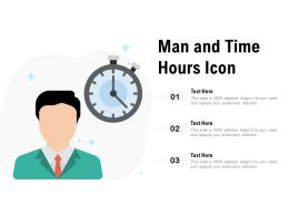 Man And Time Hours Icon