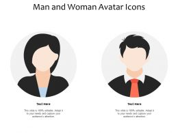 Man And Woman Avatar Icons
